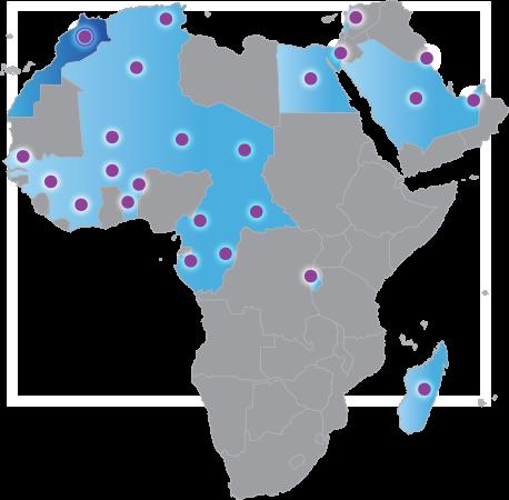 carte AFRIQUE ET PROCHE et MOYEN ORIENT